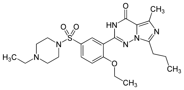 Levitra - Vardenafil - vzorec