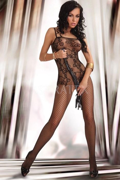 sexy Bodystocking Orrienne - černý