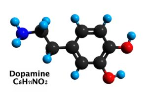 Chemický vzorec dopaminu