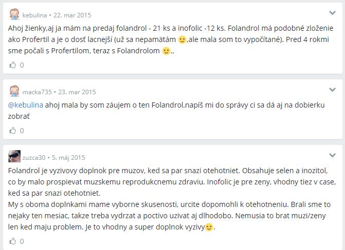 Folandrol zkušenosti ModrýKoník